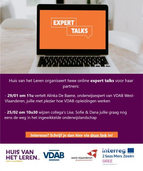 Expert Talk: Wil je graag meer informatie over VDAB-opleidingen?