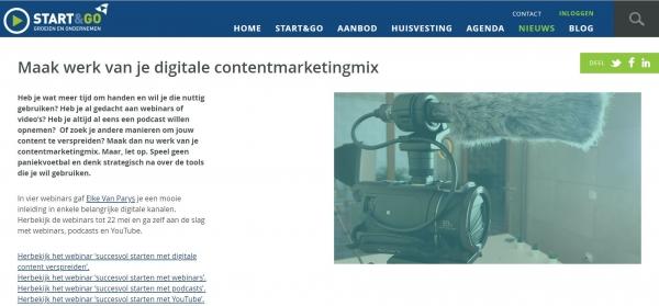 Maak werk van je digitale contentmarketingmix.