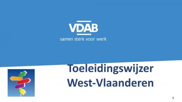 Toeleidingswijzer West Vlaanderen